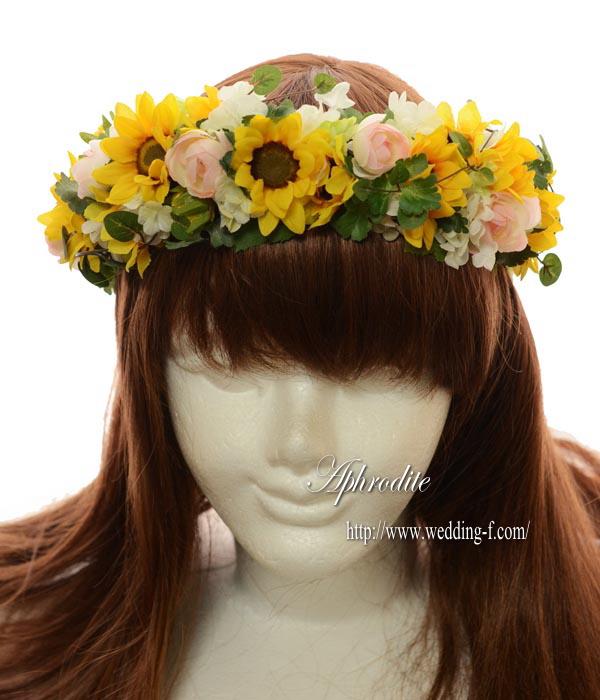 ミニヒマワリの花冠