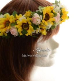 ミニひまわりの花冠