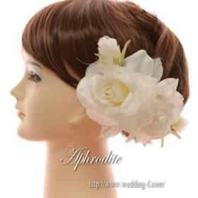 白バラのヘッドピース